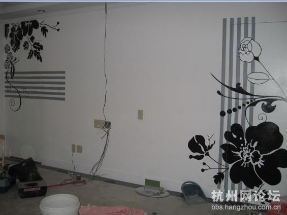 漂亮的手绘墙