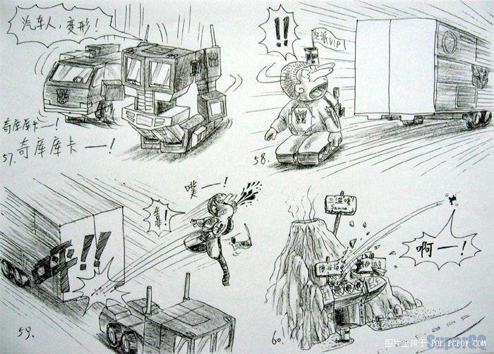 手绘漫画-变形金刚